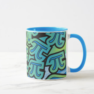 Pi Party - Pi Symbols - Pi Day Math Themed Mug