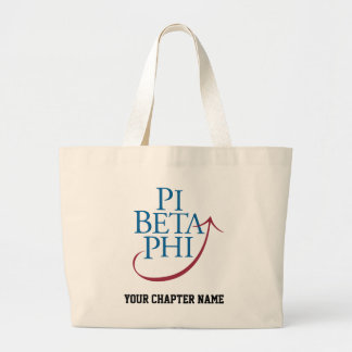 Pi Phi Logo Large Tote Bag