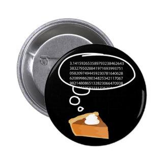 Pi Pie 3.14 6 Cm Round Badge