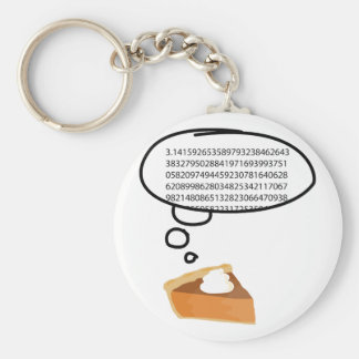 Pi Pie 3.14 Basic Round Button Key Ring