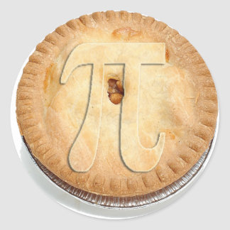 PI PIE CRUST -Cutie Pie - Celebrate Pi Day! π Round Sticker