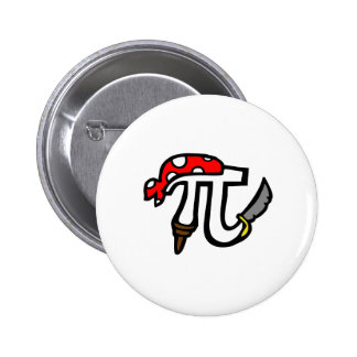 PI Pirate 6 Cm Round Badge