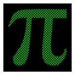 PI Pixel Chequerboard Poster