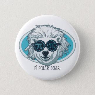 Pi Polar Bear 6 Cm Round Badge