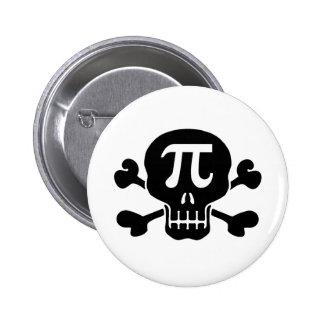 Pi rate 6 cm round badge