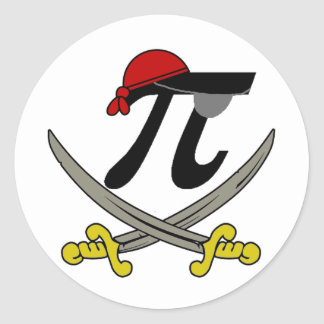Pi - Rate Classic Round Sticker