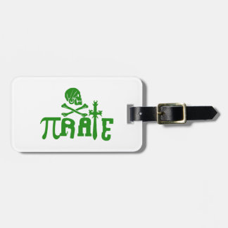 Pi - rate luggage tags
