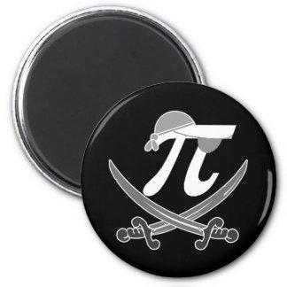 Pi - Rate pirate 6 Cm Round Magnet