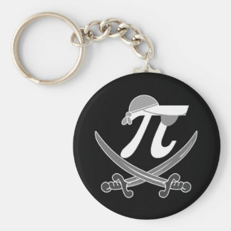 Pi - Rate pirate Basic Round Button Key Ring