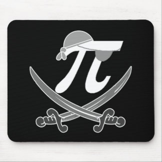 Pi - Rate pirate Mousepads