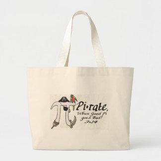 Pi rate Pirate Pi Day Shirts and Gifts Jumbo Tote Bag