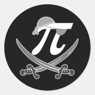 Pi - Rate pirate Round Sticker