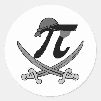 Pi - Rate pirate Stickers