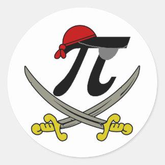 Pi - Rate Round Sticker