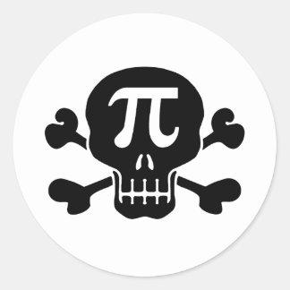 Pi rate round sticker