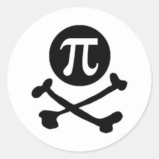 Pi-rate Round Sticker