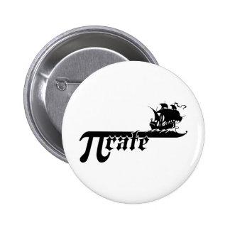 Pi rate ship 6 cm round badge