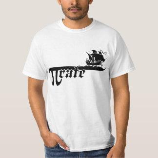 Pi rate ship tee shirt