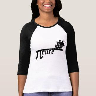 Pi rate ship tee shirts