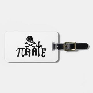 Pi - rate travel bag tags