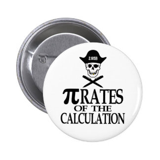 Pi-Rates of the Calculation 6 Cm Round Badge