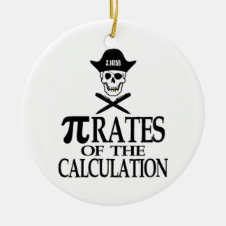 Pi-Rates of the Calculation Christmas Tree Ornaments