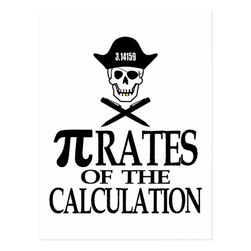 Pi-Rates of the Calculation Post Cards