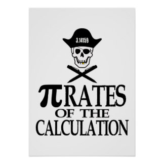 Pi-Rates of the Calculation Poster
