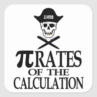 Pi-Rates of the Calculation Square Sticker