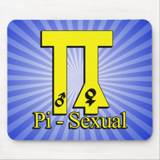 Pi-Sexual Funny Pi Mousepad