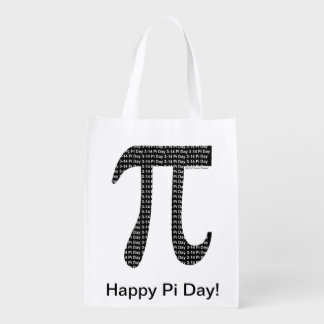 Pi Simple Reusable Grocery Bag