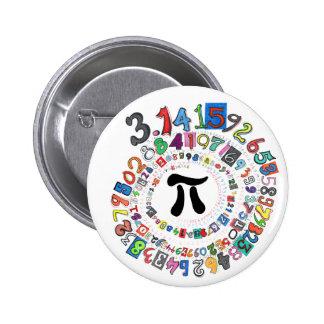 Pi sPiral 6 Cm Round Badge