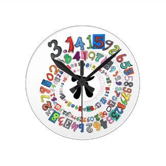 Pi sPiral Round Clock
