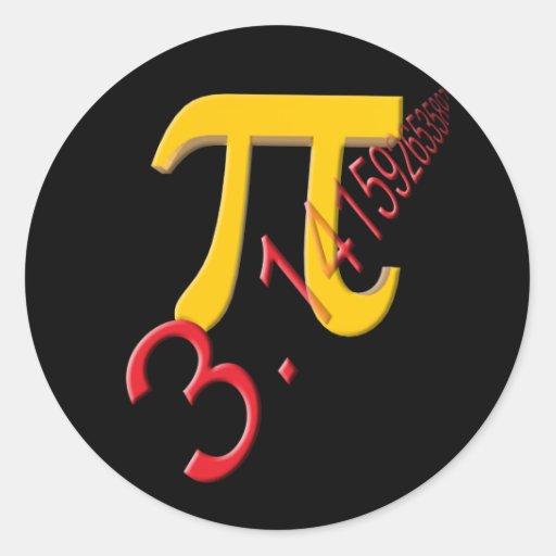 Pi Round Stickers