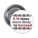 Pi Success 6 Cm Round Badge