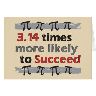 Pi Success Note Card