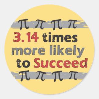 Pi Success Round Sticker