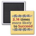 Pi Success Square Magnet
