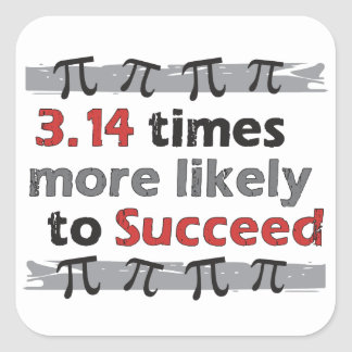 Pi Success Square Sticker
