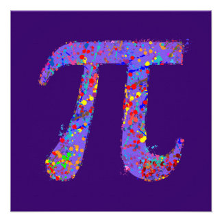 Pi Symbol Action Painting Splatter Personalized Invites