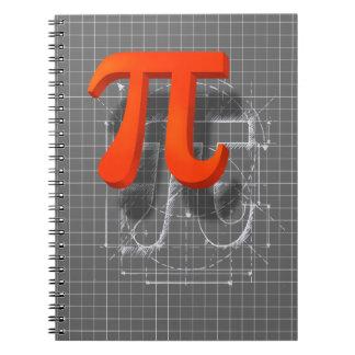 Pi Symbol Art Notebook