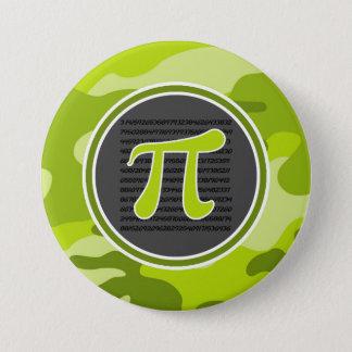 Pi symbol; bright green camo, camouflage 7.5 cm round badge