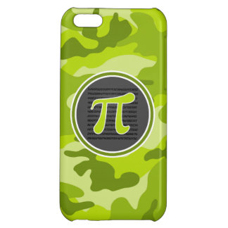 Pi symbol bright green camo camouflage cover for iPhone 5C