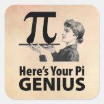 Pi Symbol Humour Square Sticker