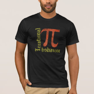 Pi Symbol Irrational Behavior Grunge Men's T shirt