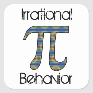 Pi Symbol Irrational Behavior Square Stickers