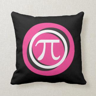 Pi Symbol PINK and Cool Circles Throw Pillow