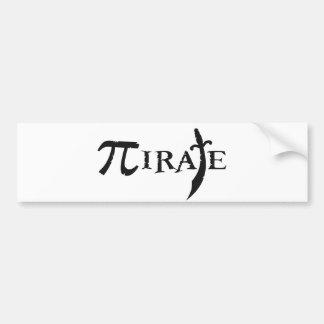Pi Symbol Pirate Bumper Sticker