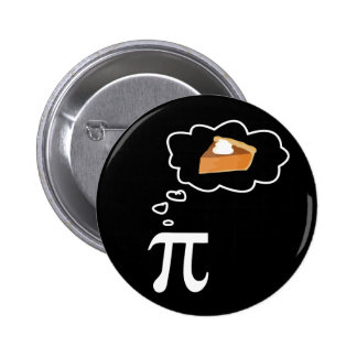 Pi Thinking of Pie 6 Cm Round Badge