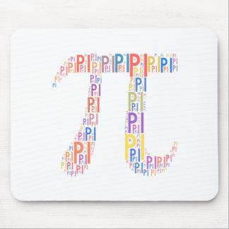Pi Typed Design Text Symbol - geek mousepad